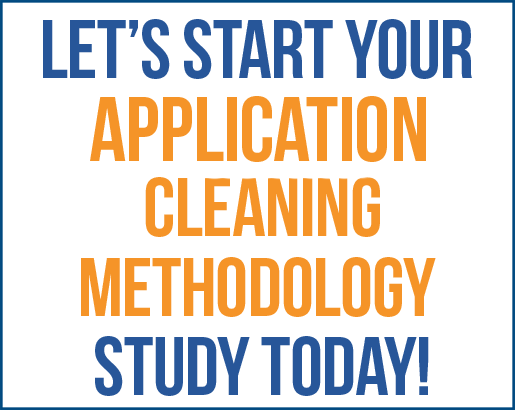 Lets Start Your Application Cleaning methodology today